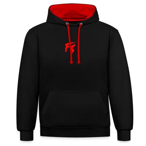 FS Logo rood - Contrast hoodie