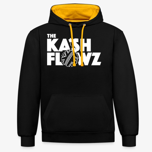 The Kash Flowz Official Bomb White - Sweat-shirt contraste