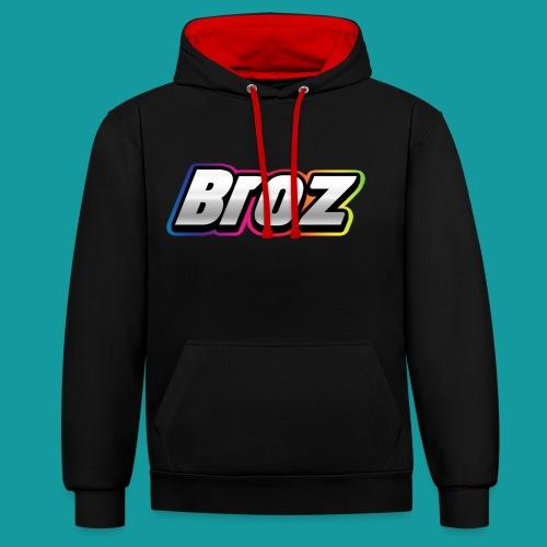Broz - Contrast hoodie