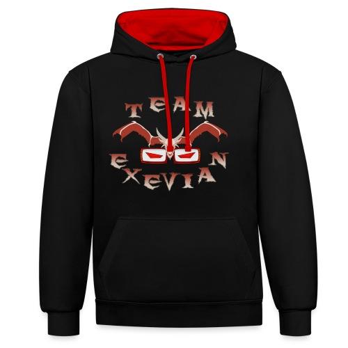 Logo Team Exevian Speciale 1000 - Felpa con cappuccio bicromatica