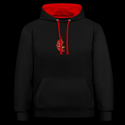 Pepper Face - Contrast Colour Hoodie