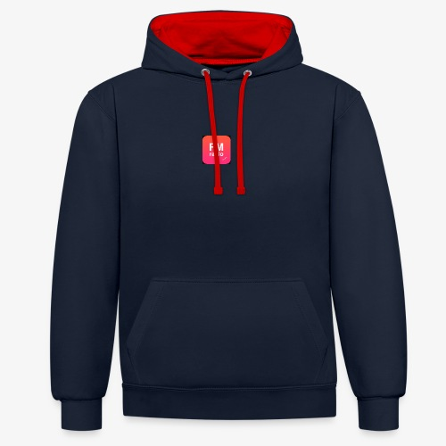 logo radiofm93 - Contrast hoodie