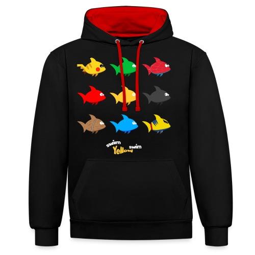 Swim! Yellow! Swim! - Contrast hoodie
