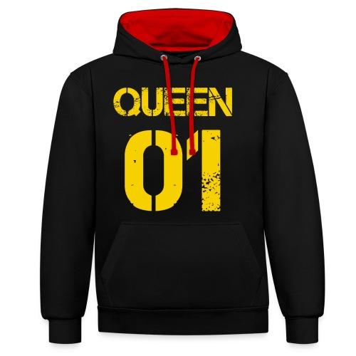 Queen - Bluza z kapturem z kontrastowymi elementami