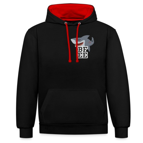 BFEE logo - Contrast Colour Hoodie