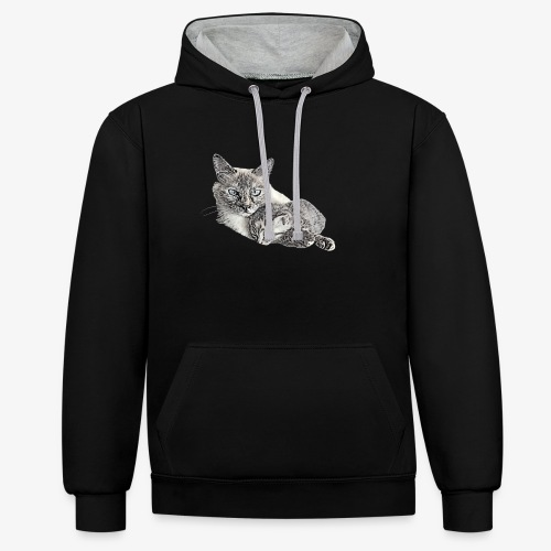 Snow and her baby - Contrast Colour Hoodie