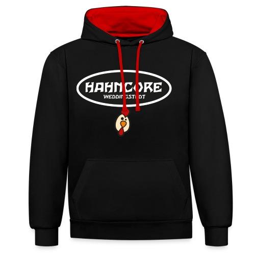 hahncore - Kontrast-Hoodie