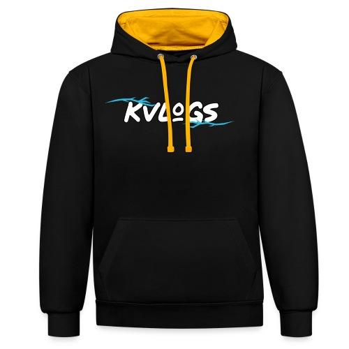 K Vlogs - Contrast hoodie