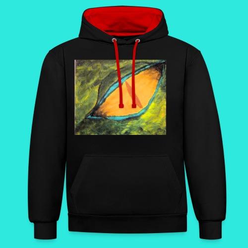 Drakenoog - Contrast hoodie