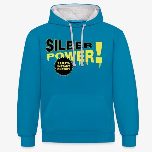 SilberPower! - Kontrast-hættetrøje