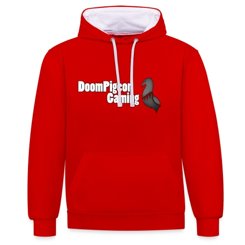 DoomPigeon Gaming cropped properly png - Contrast Colour Hoodie