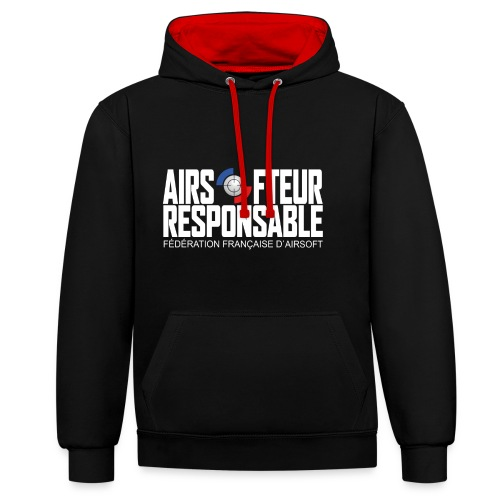 Airsofteur Responsable - Sweat-shirt contraste