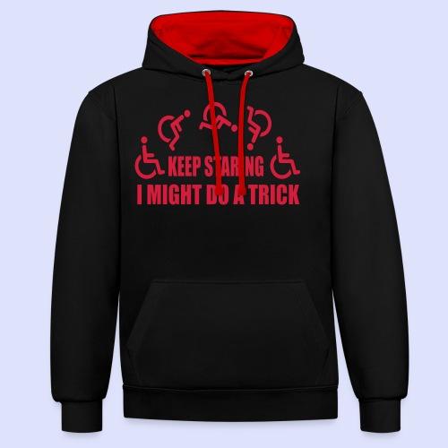 Blijf staren, ik doe misschien een truc - Contrast hoodie