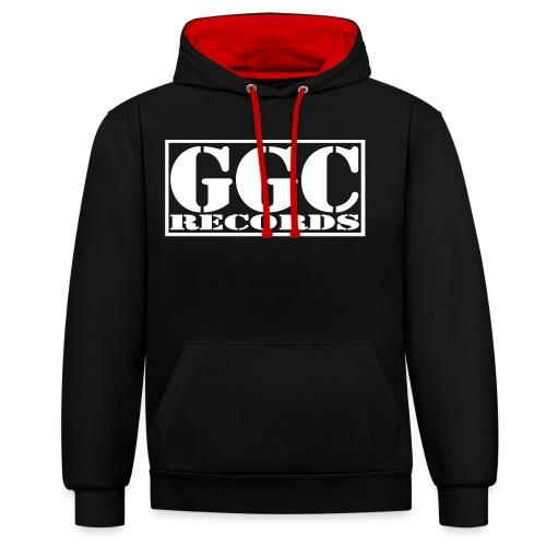 GGC-Records Label-Stempel - Kontrast-Hoodie