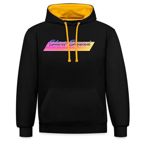 80's Shirt Squad - Contrast Colour Hoodie