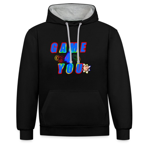 Game4You - Contrast Colour Hoodie