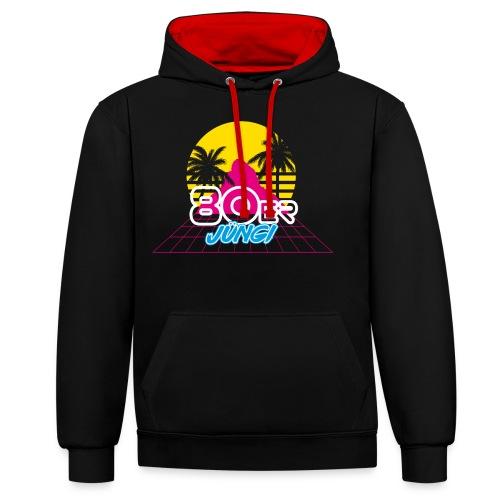 80er JÜNGI - Kontrast-Hoodie