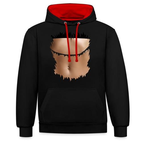 t shirt ventre plat brassiere noire - Sweat-shirt contraste