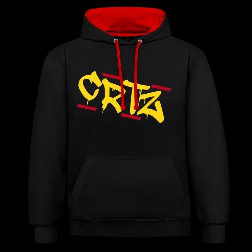 Crtz - Kontrast-Hoodie