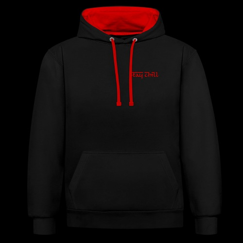 Stay Chill Demon Edition - Sudadera con capucha en contraste
