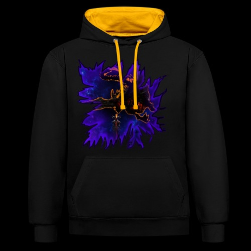 Galaxy dragon - Contrast Colour Hoodie