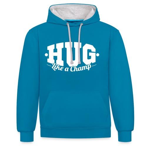 Hug70 - Kontrast-Hoodie