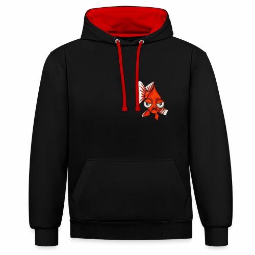 Boze vis - Contrast hoodie
