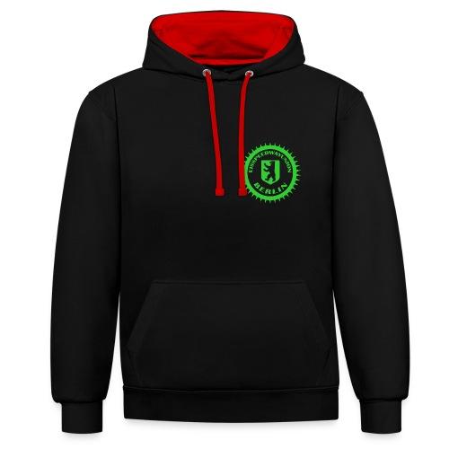 Logo klein ESU transp Green - Kontrast-Hoodie