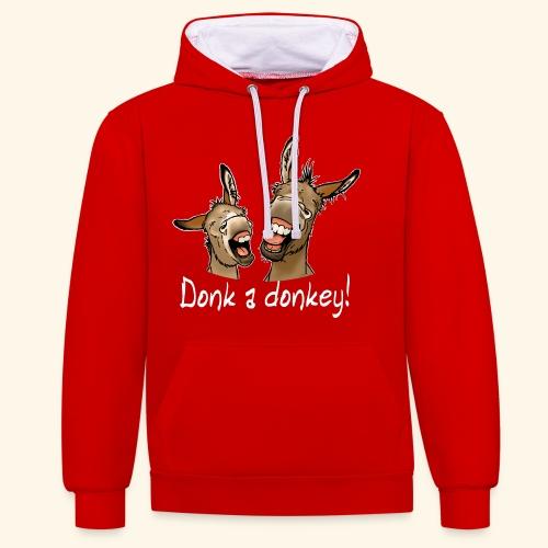 Ane Donk a donkey (texte blanc) - Sweat-shirt contraste
