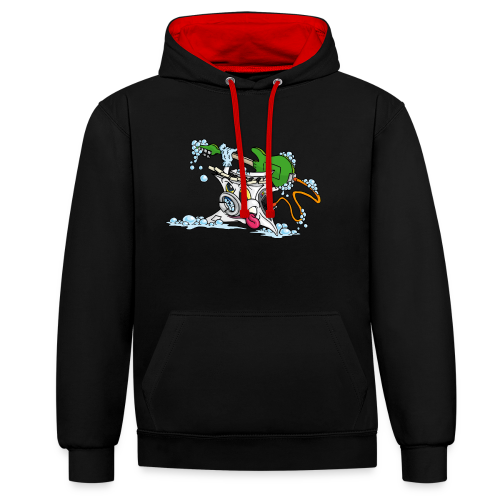 Wicked Washing Machine Wasmachine - Contrast hoodie