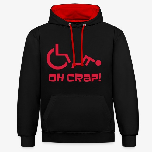 > Soms heb je pech en val je uit je rolstoel, crap - Contrast hoodie