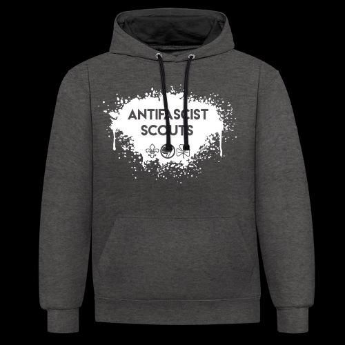 Antifascist Scouts - Contrast Colour Hoodie