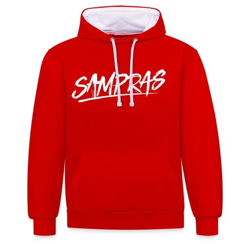 Sampras Logo - Contrast Colour Hoodie