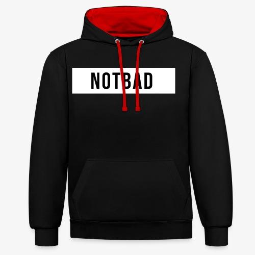 Not Bad Outfit - Felpa con cappuccio bicromatica