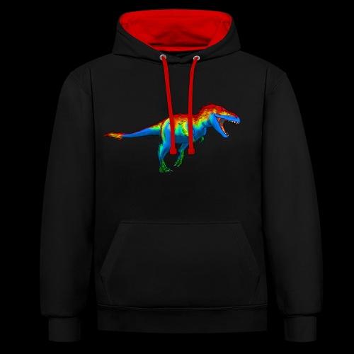 T-Rex - Contrast Colour Hoodie