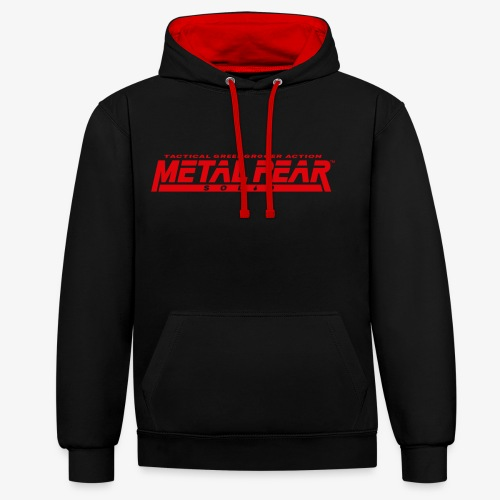 Metal Pear Solid: Tactical Greengrocer Action - Contrast Colour Hoodie