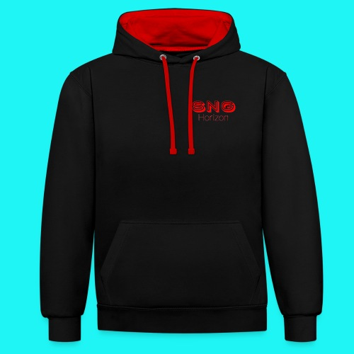 SnG Horizon Logo - Contrast Colour Hoodie