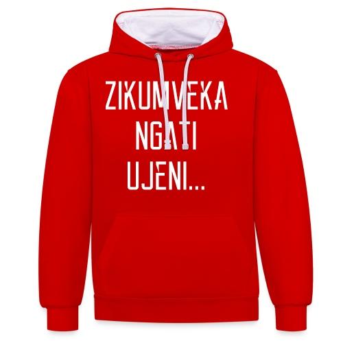 Zikumveka Ngati Ujeni - Contrast Colour Hoodie