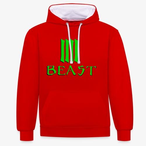 Beast Green - Contrast Colour Hoodie