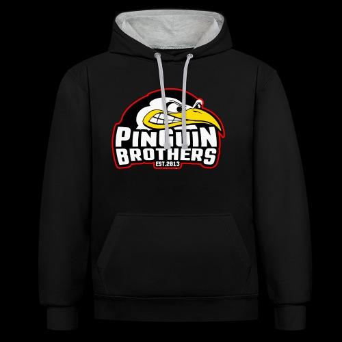 Pinguin bracia Clan - Bluza z kapturem z kontrastowymi elementami