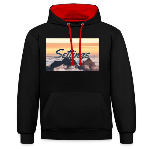 Settings Clouds - Contrast Colour Hoodie