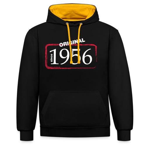 1956 - Kontrast-Hoodie