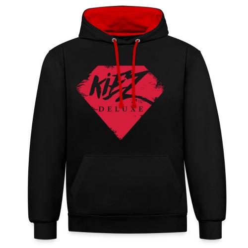 Kiez Deluxe Logo Rugged - Kontrast-Hoodie