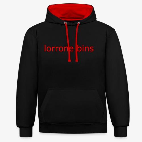 lorrone bins simple - Contrast Colour Hoodie