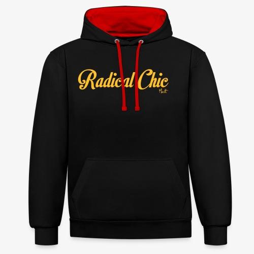 radical chic - Felpa con cappuccio bicromatica