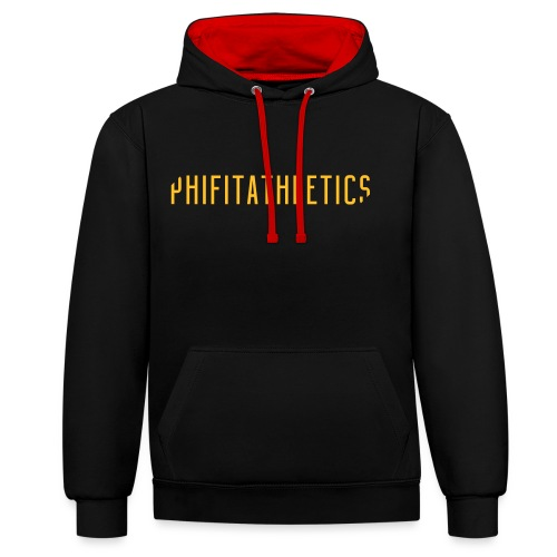 Phifit Athletics Wide Logo Gold - Contrast hoodie