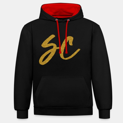 GOLD - Contrast Colour Hoodie