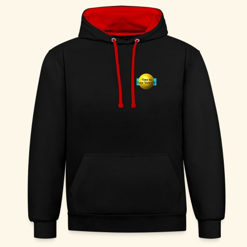 Time to Love Yourself - Kontrast-Hoodie