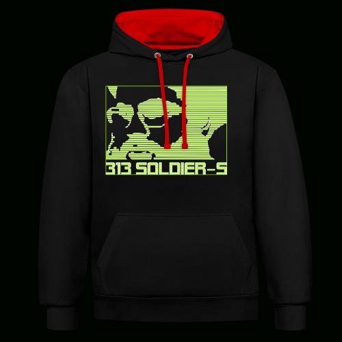 313 SOLDIERS - Kontrast-Hoodie