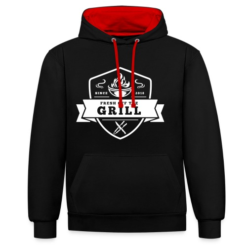 Fresh off the Grill Black - Kontrast-Hoodie